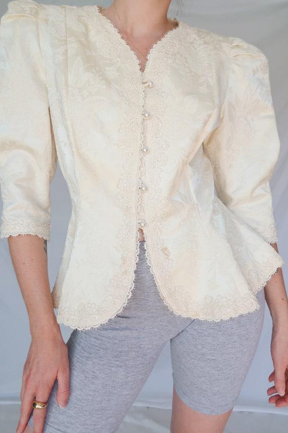 Vintage Puff Sleeve Blouse - image 5