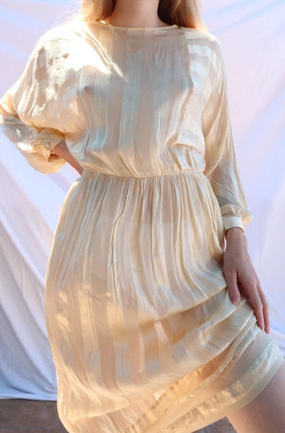 Edwardian Soft Yellow Dress