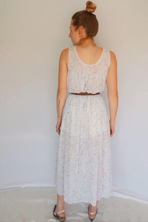 Vintage Floral Slip Dress - image 4