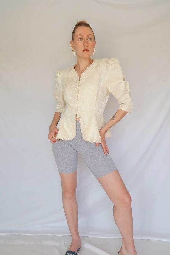 Vintage Puff Sleeve Blouse - image 2