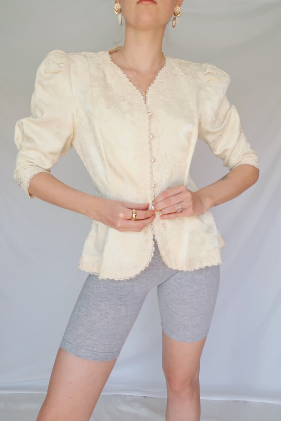 Vintage Puff Sleeve Blouse - image 1