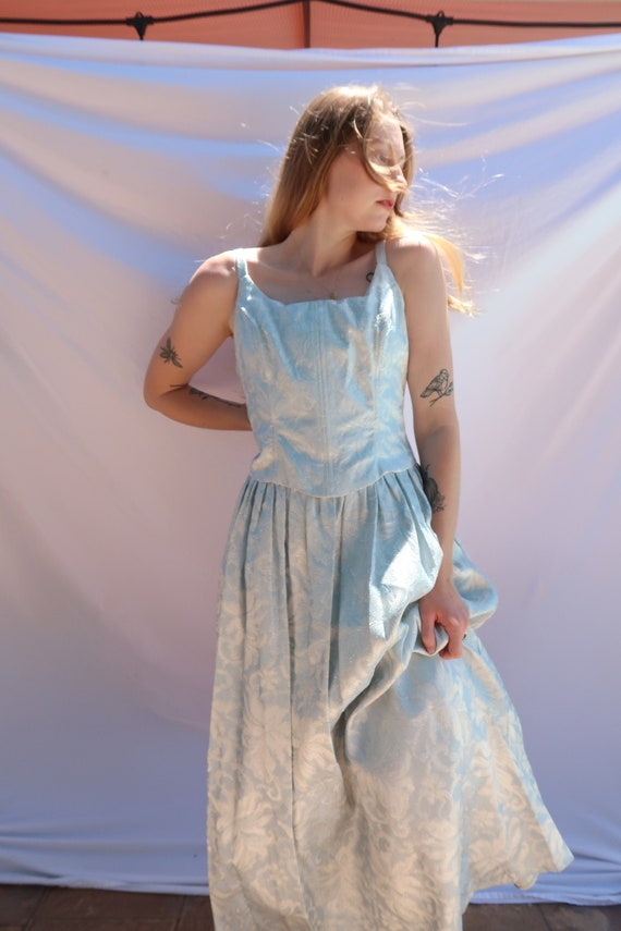 Baby Blue Shimmer Gown - image 1