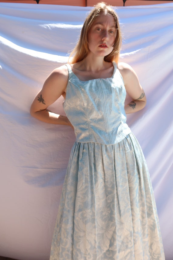 Baby Blue Shimmer Gown - image 3