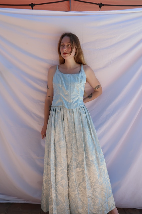 Baby Blue Shimmer Gown - image 2