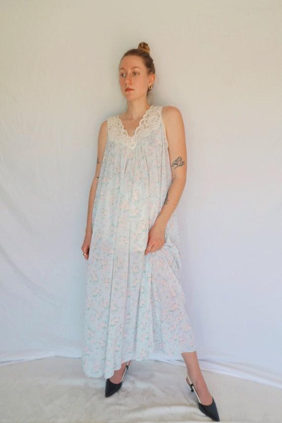 Vintage Floral Slip Dress - image 1
