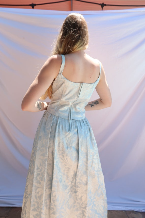 Baby Blue Shimmer Gown - image 5