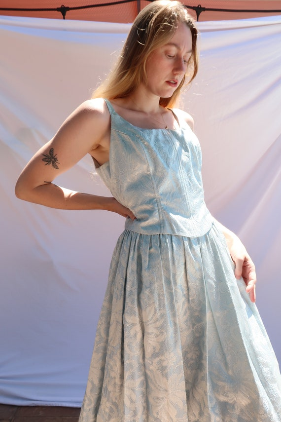 Baby Blue Shimmer Gown - image 6