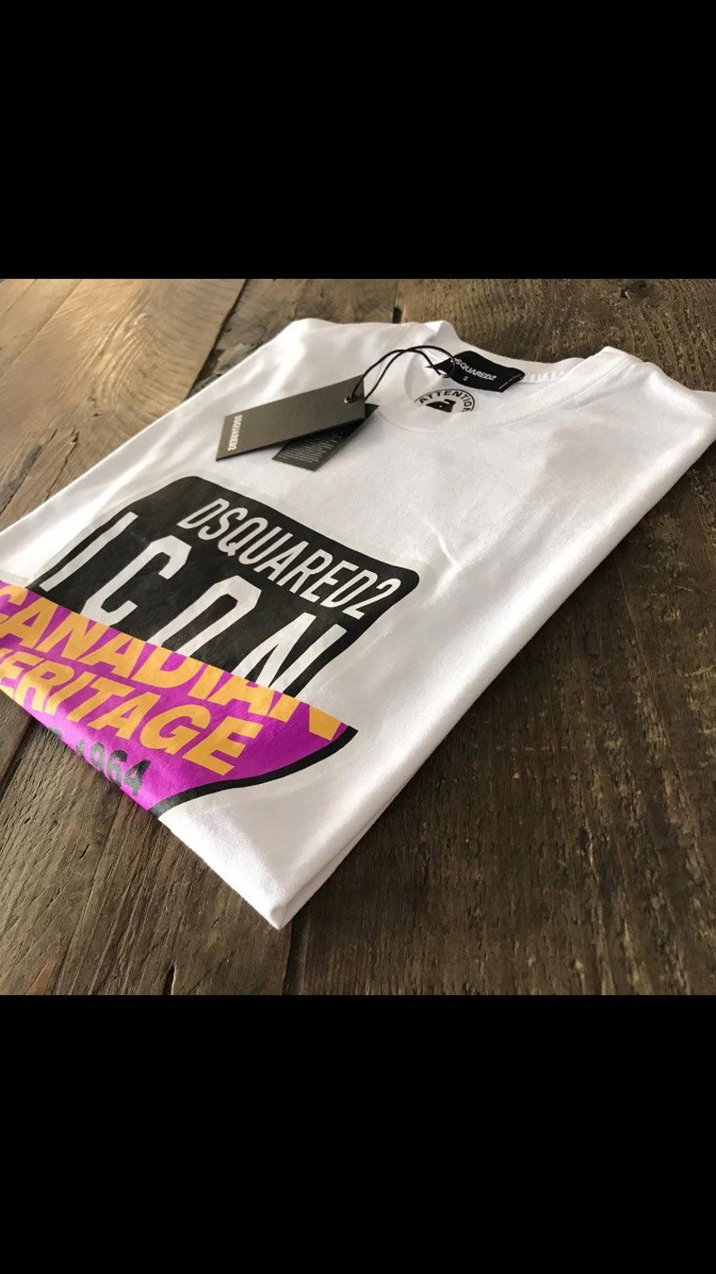 Dsquared Icon White Cotton Jersey Logo T-shirt