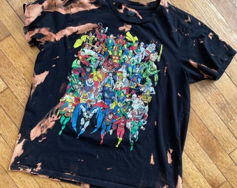 Upcycled Adult 2XL: Thrifted Reverse Dyed Incredibles 2 Tee Revamped