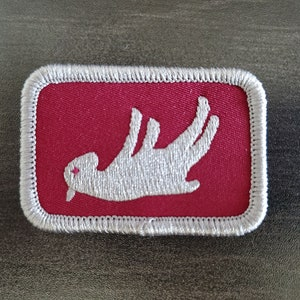 2 Inch Diameter Embroidered Patch 126 Fainting Goat Patch