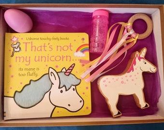 Unicorn baby sensory box