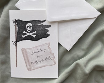 Invitation to the children's birthday pirate party