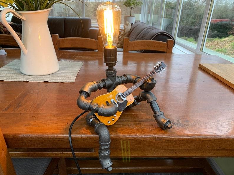 蒸汽朋克式台灯-吉他手