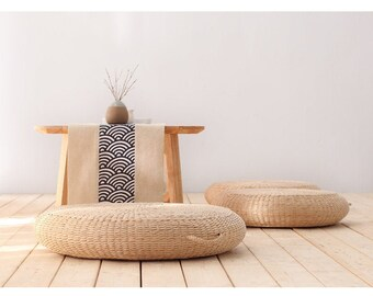 16/'/' Grass Weave Yoga Cushion Pad Pillow Pouf Floor Chair Seat Mat Tatami USA