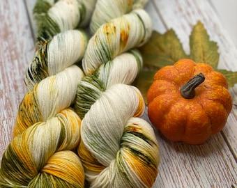 Green, Moss, Orange, Yellow, Blue, Brown, Hand Dyed Merino Nylon Fingering Sock Yarn, Superwash, Hand Painted, Sock Sets, Choose Your Base
