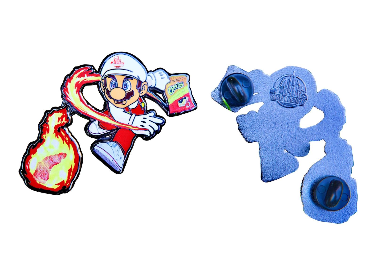Amazon.com: Mario Hot Chips Throw Enamel Pin - 2 Inch Zinc