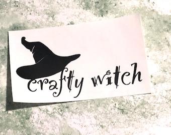 Crafty Witch vinyl sticker