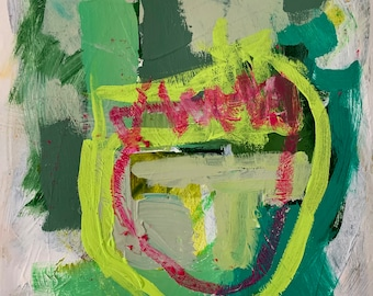 Abstract Painting, Small Abstract Artwork, Abstract Painting on Paper