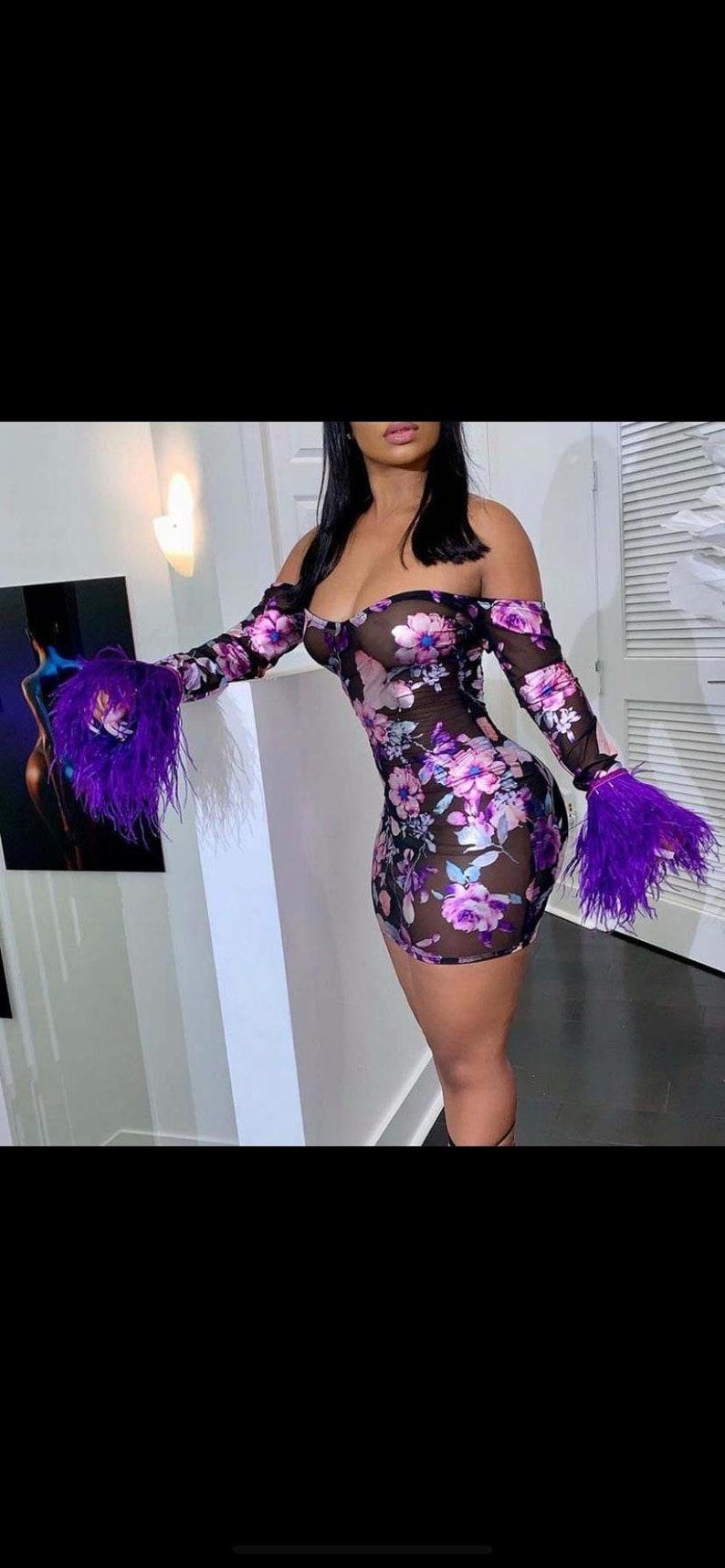 Floral purple rain dress