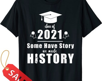 Graduation Gift Graphic Tee Text Shirt Tumblr Aesthetic Black White Graphic Print Middle School Graduate Tee Free Student Calm Down GO1310