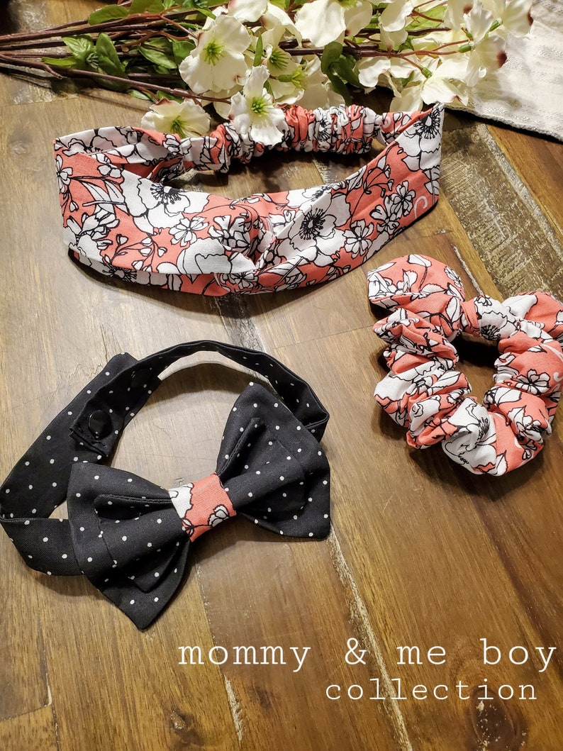 Mommy and me boy accessories Mommy and me gift set match your little guy with a headband for you and an adorable bow tie for him
