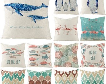 Ocean Wave Pillow Etsy