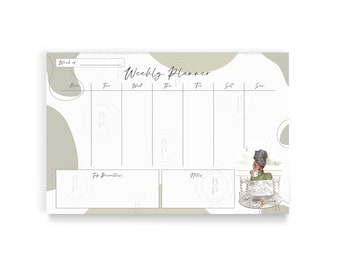 A4 Weekly Planner| Black Girl Stationery|African American Stationery|Ethnic Stationery