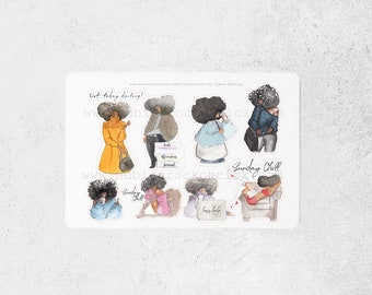 Fro Squad-Black Girl Stickers|Planner Stickers|Black Girl planner Stickers|
