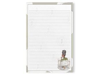 A4 Notepad | Black Girl Stationery|African American Stationery|Ethnic Stationery