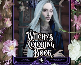 The Witch's Coloring Book, Witchcraft, Wicca, Coloring Book for Adults, Magical, Printable, Pagan, Heathen,