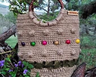 Hemp crochet top Handmade Pouch