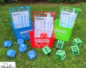 Personalized Yardzee Yard Lawn Game - Mix and Match Colors - Two Dice Styles Available