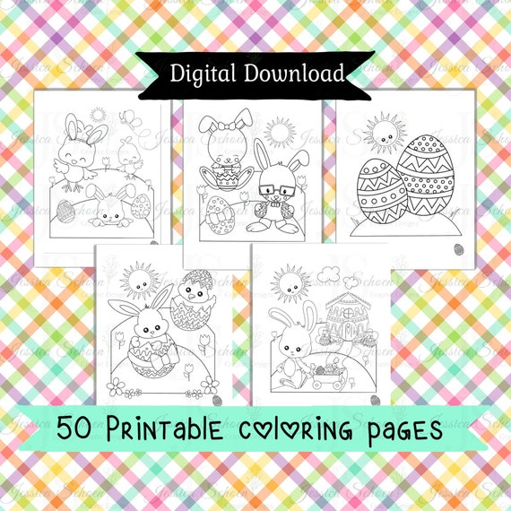 Easter coloring pages 50 Printable easter bunny activity for