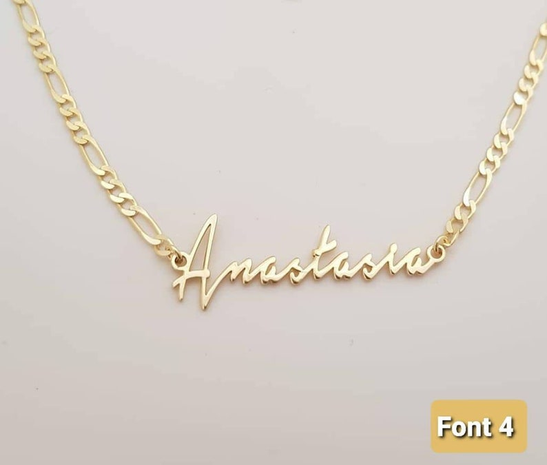 Personalized jewelry 14k Solid gold name necklace Personalized Gift Gold name necklace Name necklace Name necklace Gift for Her