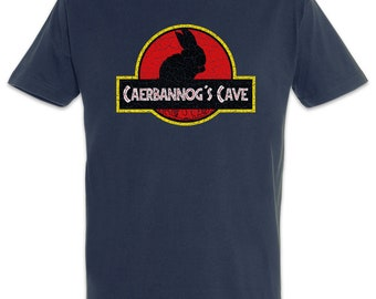 Caerbannog's Cave Men T-Shirt Monty Fun Python Jurassic and the holy grail Rabbit of Caerbannog Spamalot Park Holy Hand Grenade