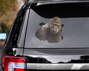 got gorilla ANIMAL GORILLAS APE FUNNY CAR DECAL BUMPER STICKER WALL