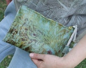 Women Leather Clutch-Blue Leather Clutch Bag-Floral Clutch Bag for Women-Clutch Purse-Women's Clutch Bag-Handmade clutch-Gift