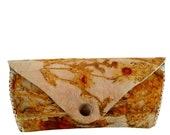 Eyeglasses Bag-Sunglasses Case-Ecoprinted Leather Case-Natural Print-Spring Gift