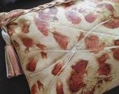 New Shoulder Bag-Womens Bag-Purse Bag-Ecoprinted Bag-Floral Leather Bag