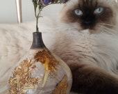 Pottery Vase-Handmade Ceramic-Botanical Dyed Vase-Home Decor-Plant Pot-Gift