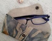 Floral Glasses Case-Leather Case-Reading Case-Sunglasses Case-Soft Glasses Case