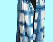 Womens Clothing Swimwear- Beach Fashion-Cover up-Blue Scarf-Four  Seasons Scarf-Mothers Day Gift