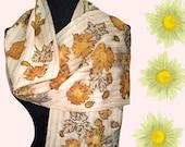 Handmade Yellow Silk Scarf-Natural Silk Scarf-Slow Fashion-Wear Art