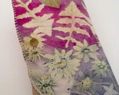 Leather Women Clutch-Ecoprinted & Natural Designs Created from Plants-Handcrafted By Artist-Leather Purse Handbag