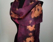 Purple Silk Scarf-Handmade Scarf-Designer Scarf-Women Head Scarves-Sustainable Fashion-Slow Fashion-Wearable Art