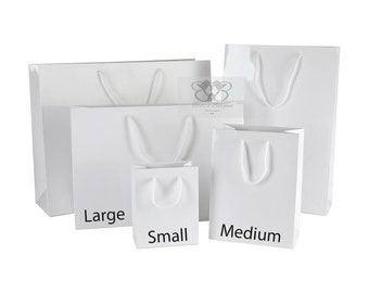 Luxury Personalised Christmas Gift Bag with rope handles