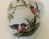 Limoges Covered Egg Shaped Trinket Box