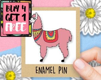 Llama Jewellery Hard Enamel Pin Llama Enamel Pin Llama Lover Gift Animal Pin Llama Lapel Pin Llama Brooch Cute Enamel Pin