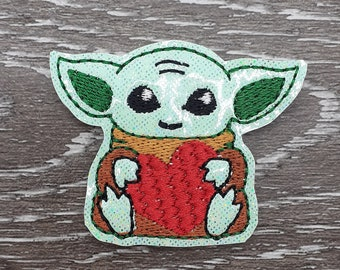 Baby Alien  Felties  embroidered on vinyl perfect for hair bows, embellishment, badge reels, planner clips, and more DIY projects