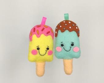 Keychain Gift for coworker or friend or boyfriend ice cream foodie Ice cream lover gift